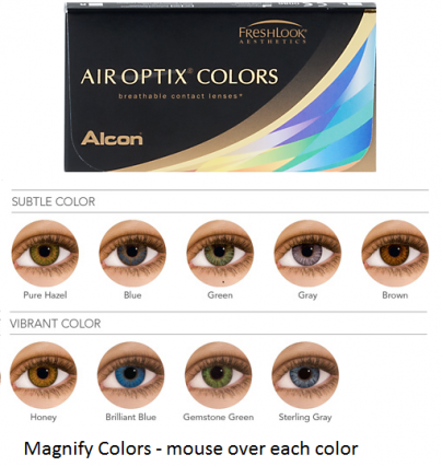 Best Price Air Optix COLORS Contact Lenses - Lowest cost on colored contacts