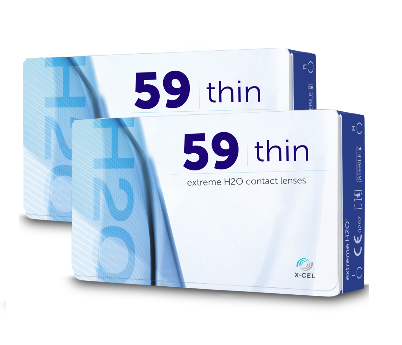 Best Price Extreme H2O 59 THIN Contact Lenses 6 Pack - Lowest Cost Online