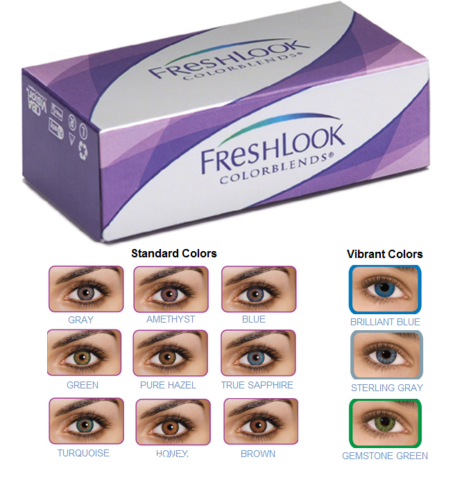 66090a7135d FreshLook ColorBlends - Colored Contacts for Dark   Light Eyes