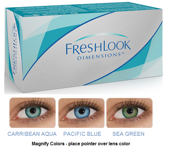 Freshlook Dimensions Sea Green >> Lowest Price Contacts Online! Discount Price Freshlook ...