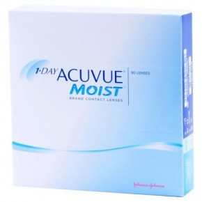 Best Price 1-Day Acuvue MOIST Contact Lenses 90 Pack - Lowest Cost Online!