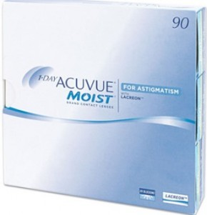 Best Price 1-Day Acuvue MOIST for ASTIGMATISM Contact Lenses 90 Pack - Lowest Cost Online