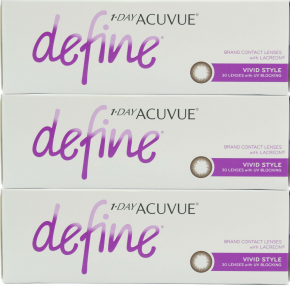 Best Price 1-Day Acuvue DEFINE Contact Lenses 90 Pack - Accent, Shimmer, Shine, Vivid