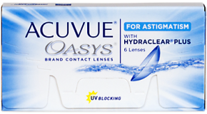 Best Price Acuvue OASYS with Hydraclear Plus for ASTIGMATISM Contact Lenses 6 Pack - Lowest Price Online!