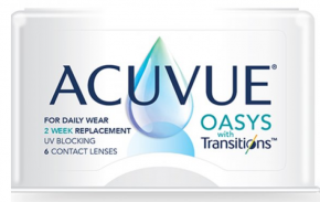 Acuvue OASYS with TRANSITIONS Contact Lenses 6 Pack - Best Price