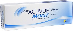 Best Price 1-Day Acuvue MOIST Contact Lenses 30 Pack -  Lowest Cost Online!