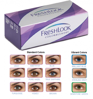Best Price FreshLook ColorBlends - Vibrant Opaque Colors for Dark Eyes