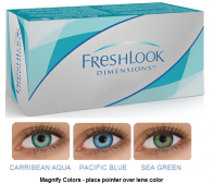 Best Price FreshLook Dimensions Colors Contact Lenses - Colored Opaque Contacts for light eyes