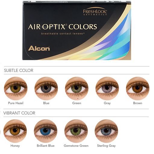 Discount Price Air Optix Colors Contacts Lenses 6 Lens Packcolored