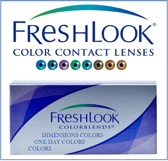 Best Price FreshLook Contact Lenses - FreshLook COLORBLENDS, FreshLook COLORS, FreshLook DIMENSIONS COLORS, FreshLook ONE-DAY COLORS