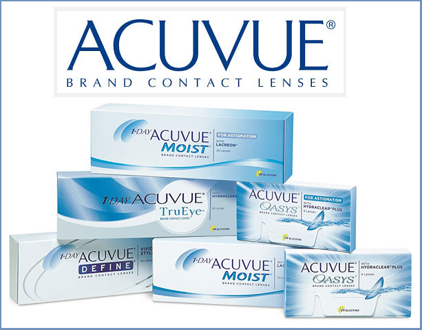 Best Price Acuvue Contact Lenses - Acuvue OASYS, Acuvue OASYS for ASTIGMATISM, 1-Day Acuvue MOIST, 1-Day Acuvue TRUEYE, 1-Day Acuvue DEFINE